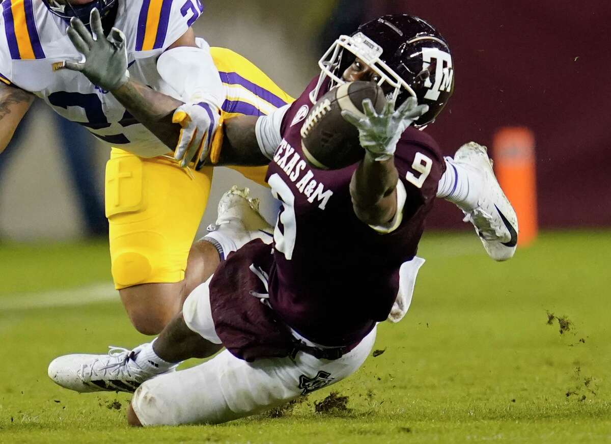 When he's not catching passes for the Aggies, Texas A&M wide receiver Hezekiah Jones devotes time to his budding apparel business.