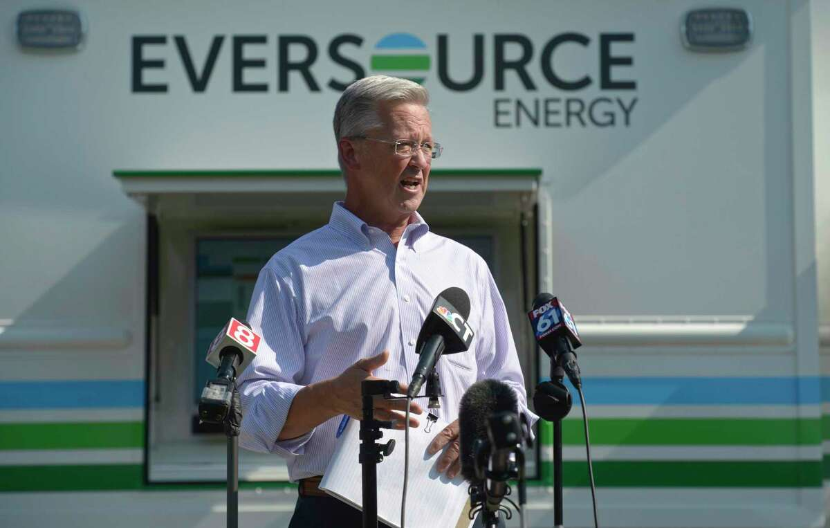 Eversource President of Regional Electric Operations Craig Hallstrom in 2020. Even before the storm weakened Sunday afternoon, Eversource had indications the damage wouldn't be as severe as the ominous forecast showed.