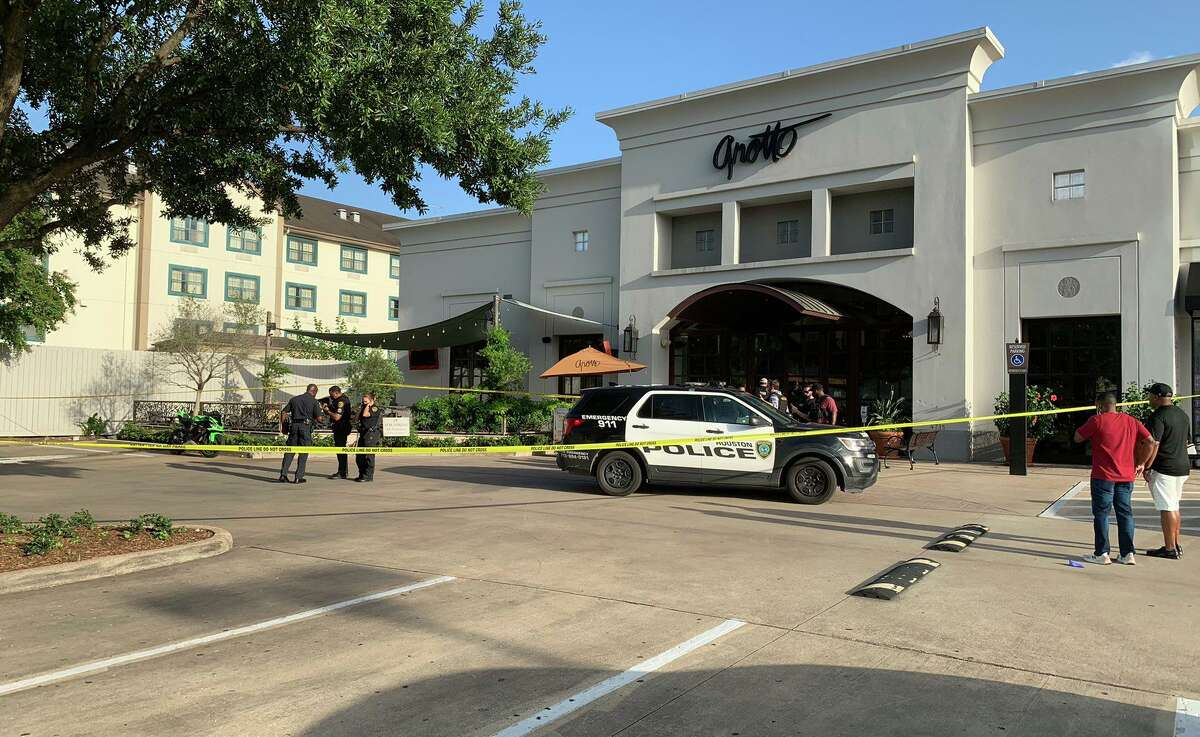 Two people were shot at a Houston restaurant, police said.