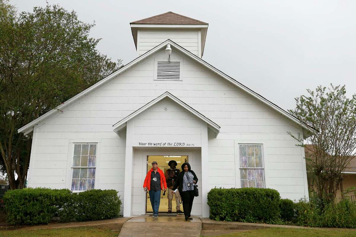 The First Baptist Church of Sutherland Springs. On Nov. 5, 2017, a gunman killed 26 people there. The building was later turned into a memorial to the victims.