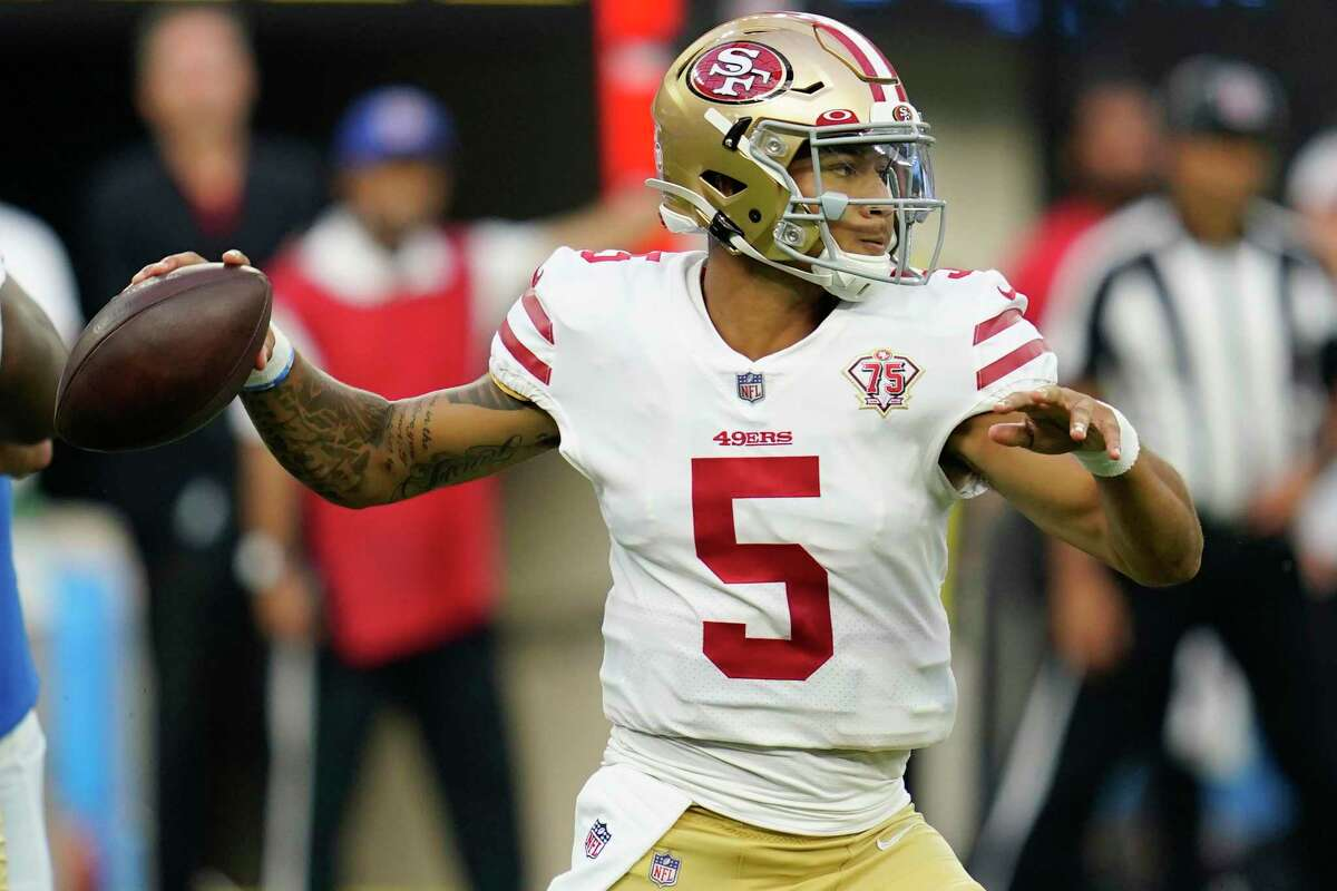 San Francisco 49ers quarterback Trey Lance has had a penchant this summer - in practices and in two preseason games - for uncorking rockets at relatively close targets.