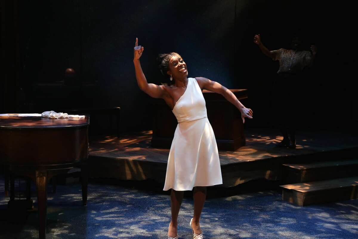"""Felicia Curry plays the title character in """"Nina Simone: Four Women,"""" running at Berkshire Theatre Group through Sept. 5, 2021."""