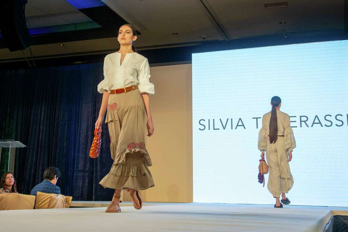 Colombian fashion designer Silvia Tcherassi visits Houston for the first time to show her most recent collection at the Latin Women's Initiative Luncheon and Fashion Show.