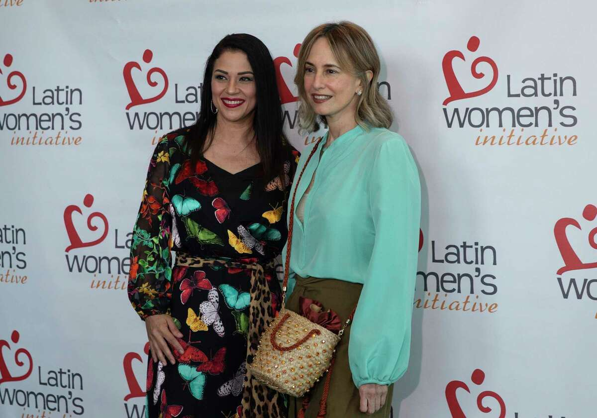 Fashion designer Silvia Tcherassi poses for a photograph with a Latin Women's Initiative 19th Annual Fashion Show and Luncheon VIP Friday, Aug. 13, 2021, at Hilton America Houston in Houston.