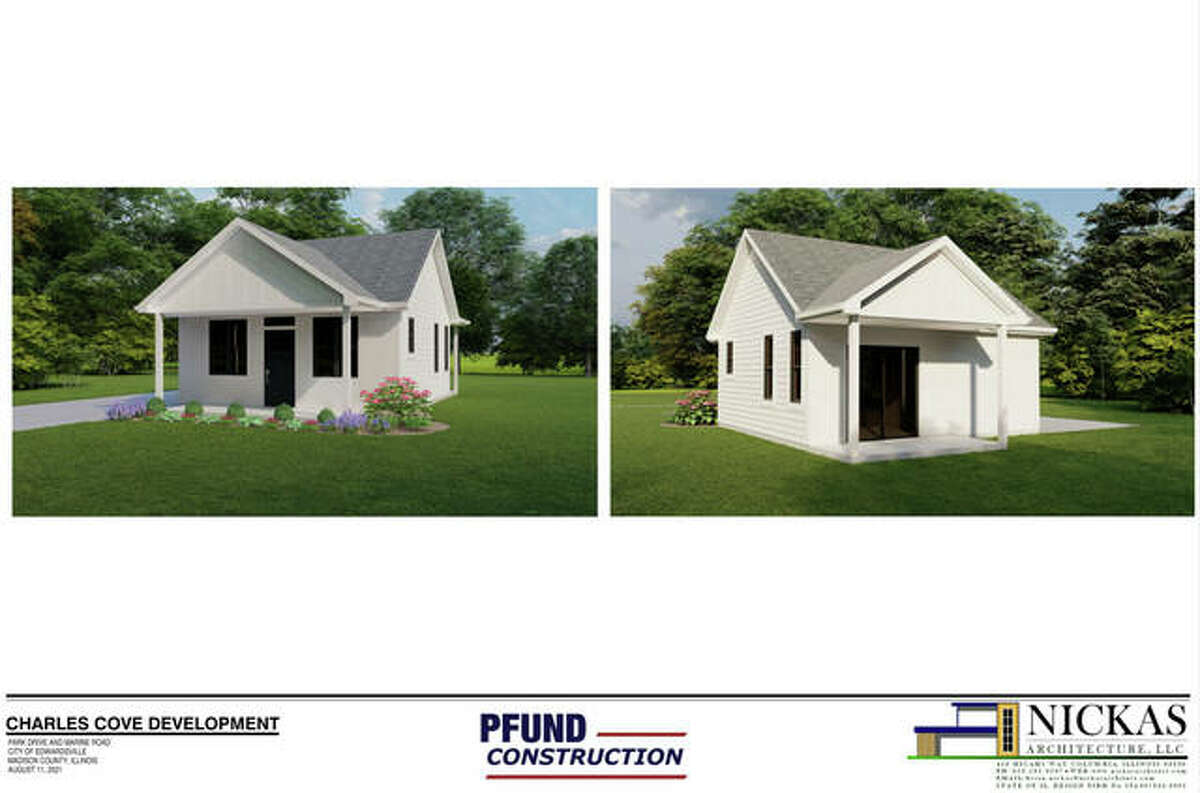 A rendering of one of the proposed cottage homes at Charles Cove, at Route 143 and Park Drive.