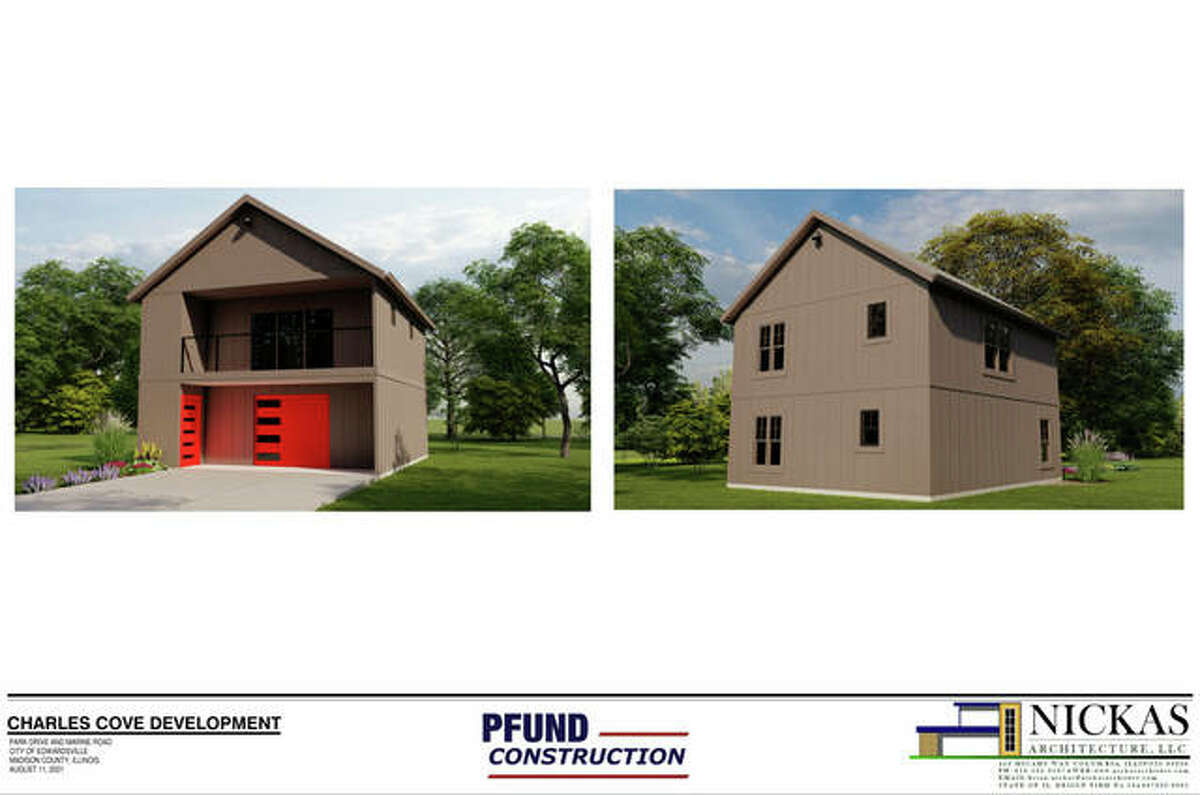 Four of the nine proposed cottage homes would include a one-car garage.