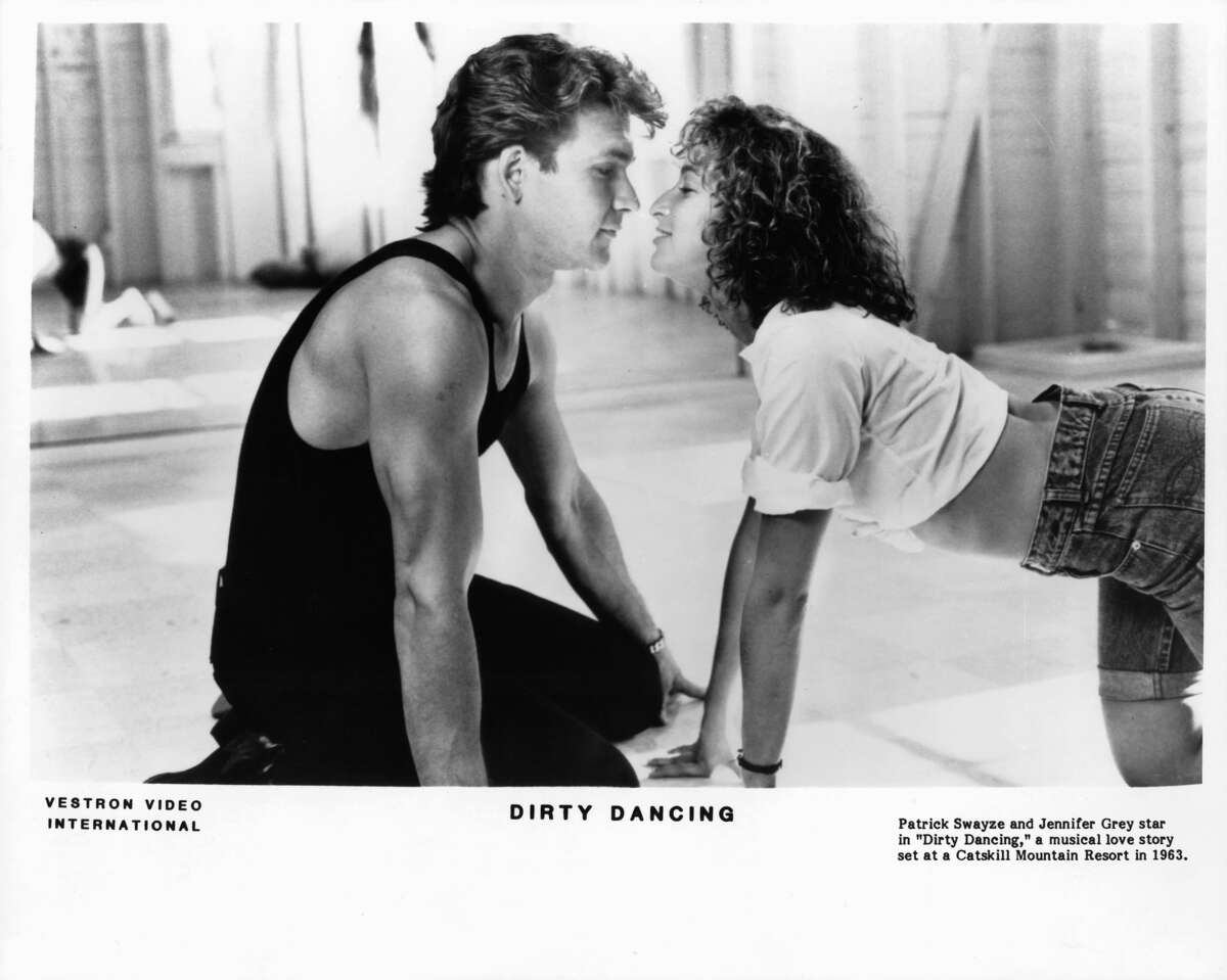 Patrick Swayze and Jennifer Grey in a scene from the film 'Dirty Dancing', 1987.