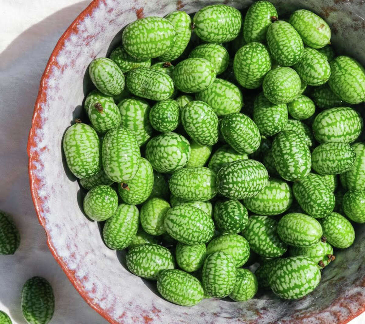 Cucamelons from Forts Ferry Farm in Colonie.