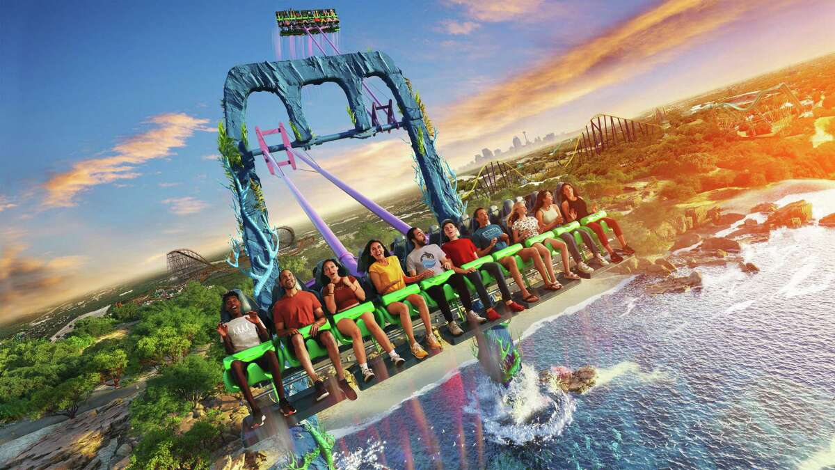 A rendering of Tidal Surge, a new ride SeaWorld San Antonio is planning to open in spring 2022.