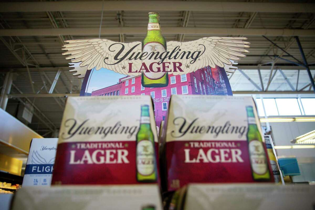 Yuengling makes its Houston debut at the H-E-B in Montrose on Monday, Aug. 23, 2021.