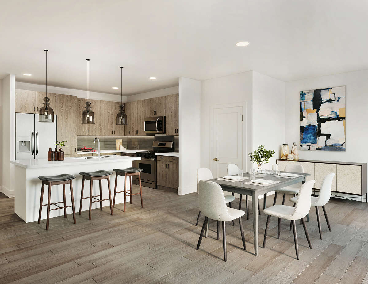 Units in Creekside Park the Grove, a new apartment community by the Howard Hughes Corp. in The Woodlands, have nine-foot ceilings, stainless appliances, walk-in closets, quartz countertops and smart thermostats.