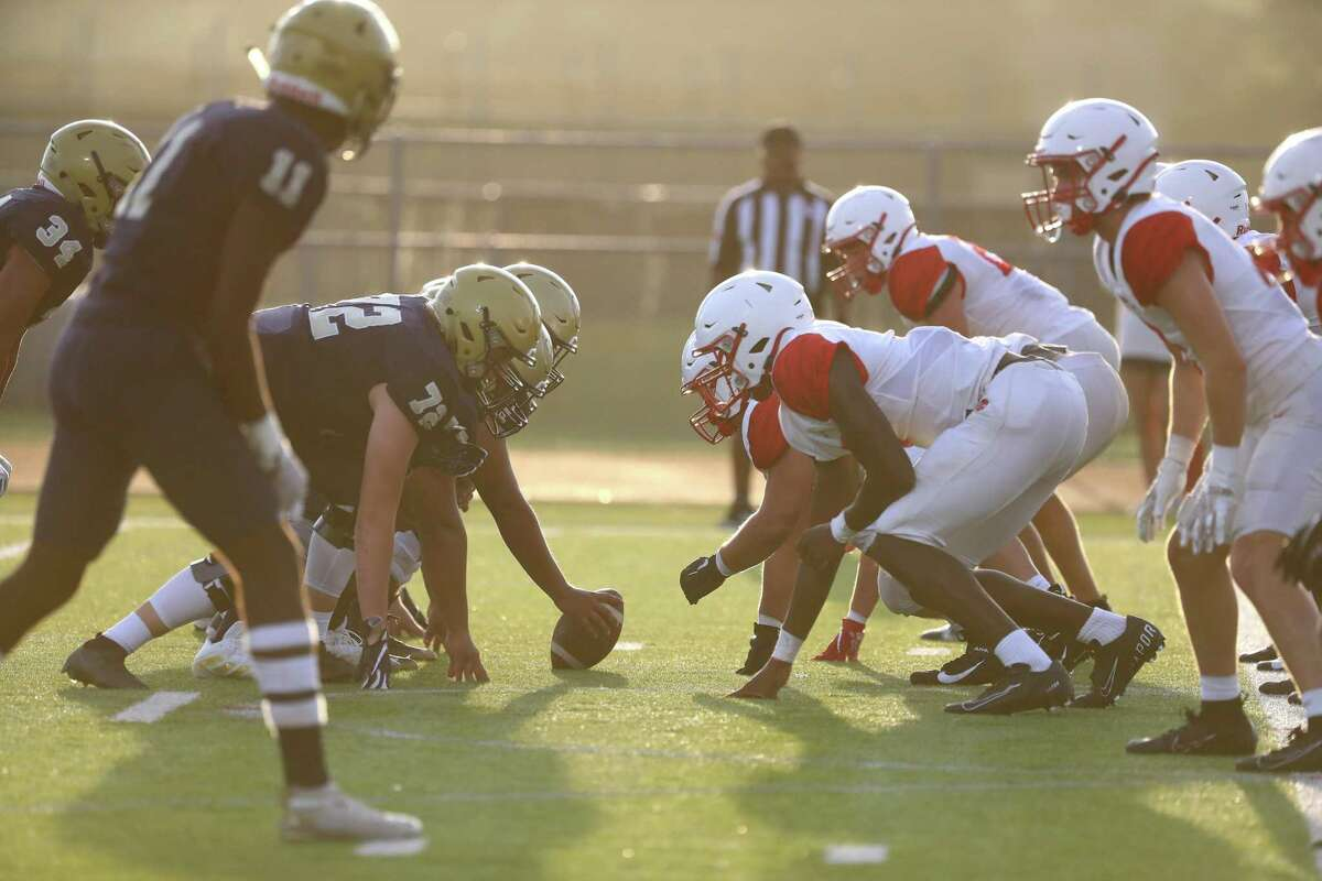 Katy High School and Klein Collins face off in a scrimmage at Klein Collins High School, Thursday, August 19, 2021, in Spring.
