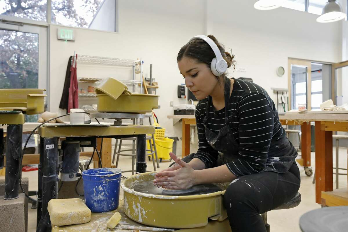 A student is seen creating art at the Southwest School of Art in Dec. 5, 2018. The University of Texas at San Antonio and the Southwest School of Art are combining to create a new art school in downtown San Antonio.