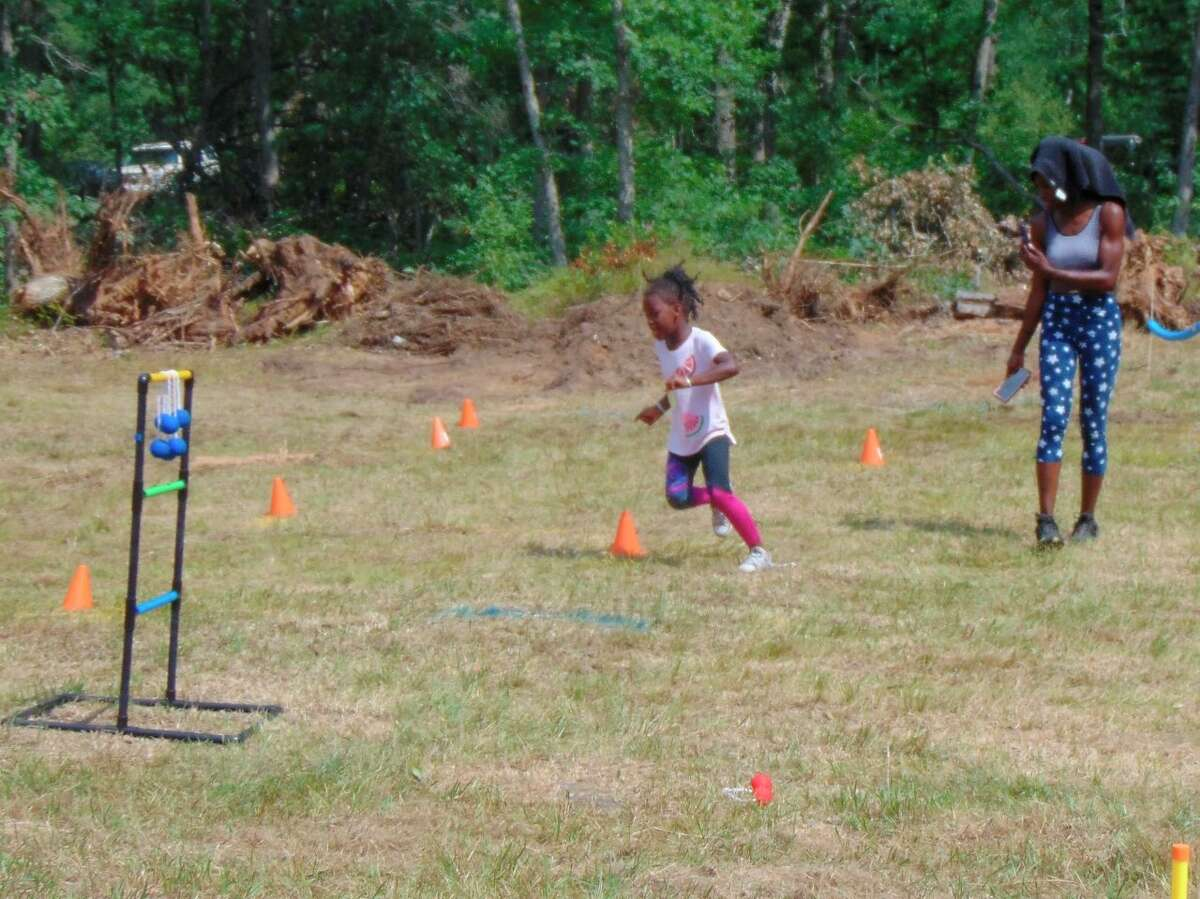 Youth enjoyed an obstacle course and other games. (Star photo/Shanna Avery)