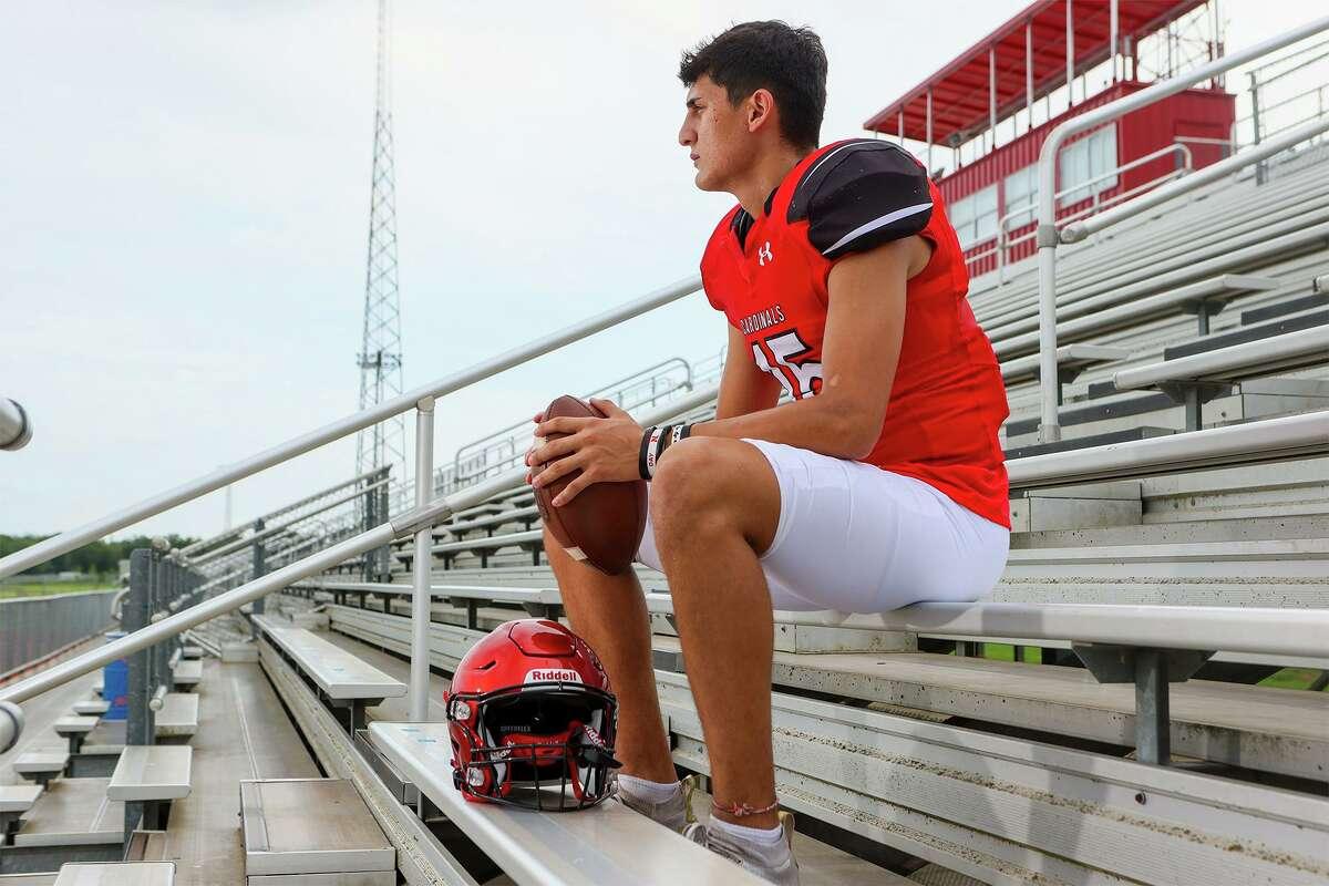 Southside quarterback Richard Torres at Southside ISD Stadium on Thursday, Aug. 5, 2021.