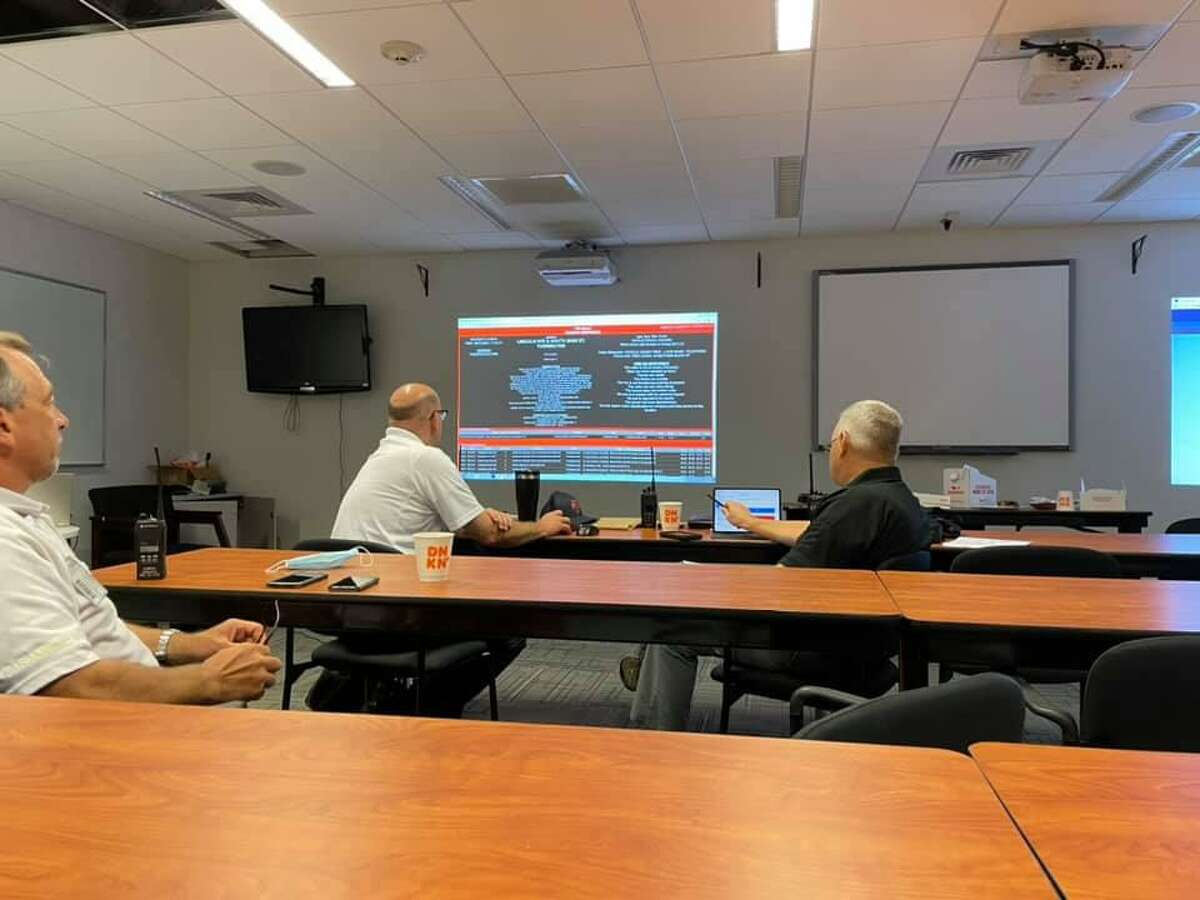 Members of Torrington's emergency response team met early Monday morning to assess any reported damage or accidents. The team includes members of the police and fire departments, ambulance services and public works.