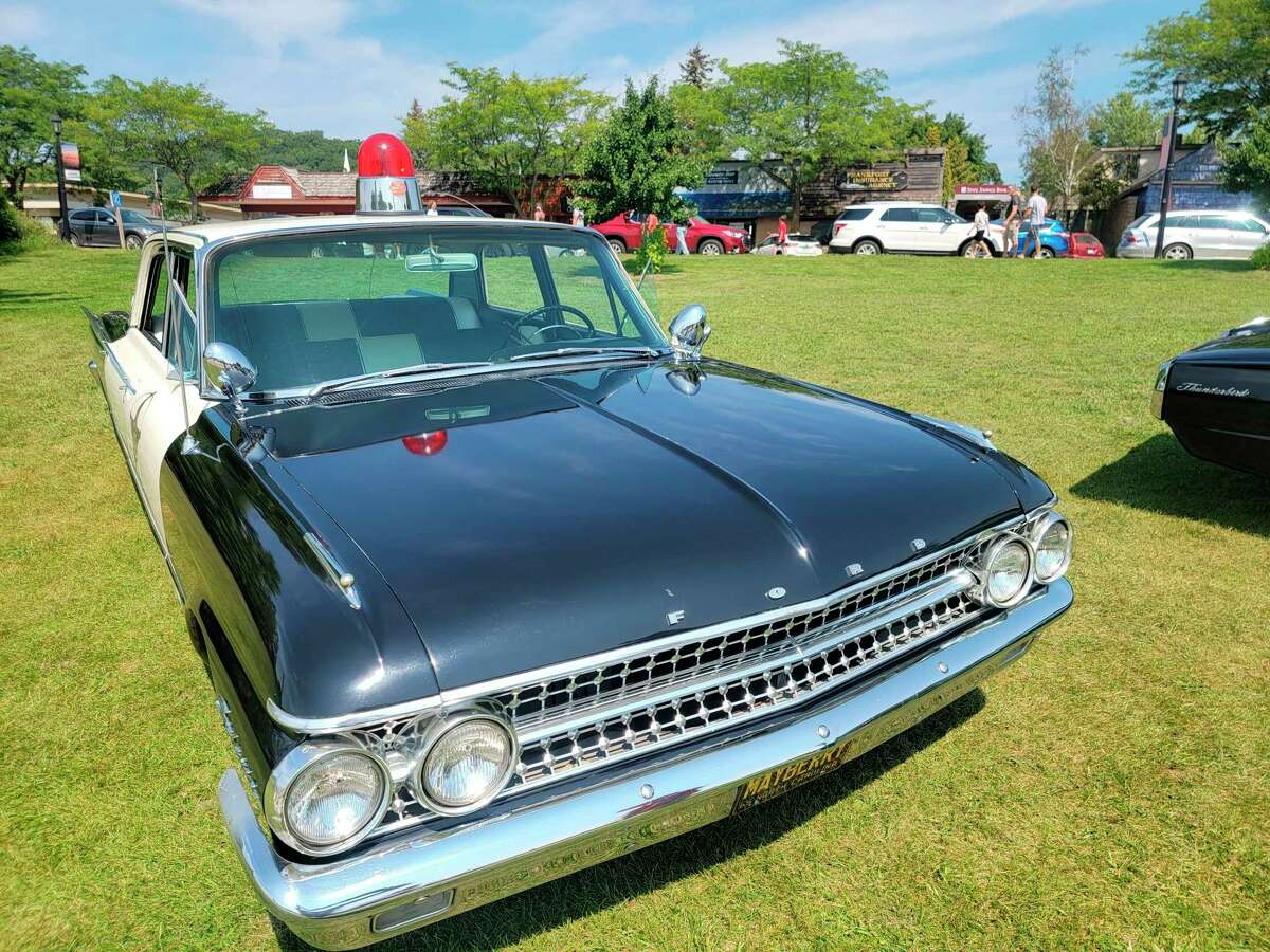 A police car from the fictional community of Mayberry made an appearance at the Collectors Car Show on Saturday.(Colin Merry/News Advocate)