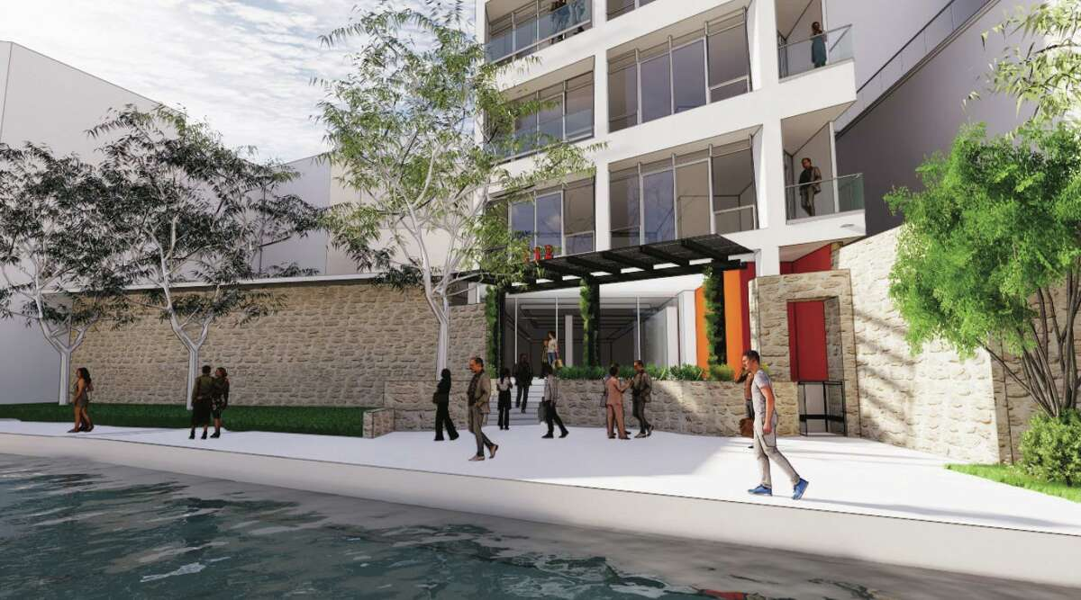 Renderings of plans for the building at 112 Soledad Street in downtown San Antonio.