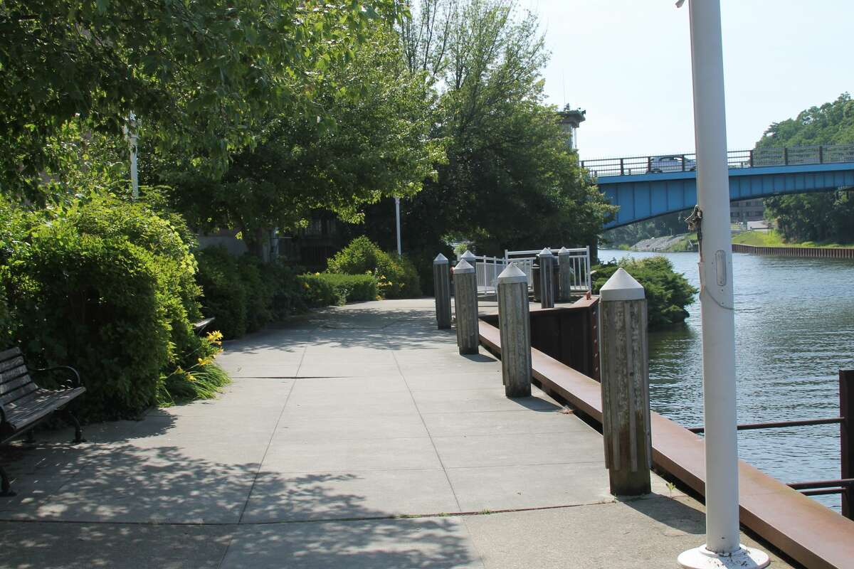 Maintenance of the Riverwalk in downtown Manistee has been a subject of debate at recent city council and Downtown Development Authority meetings. (File Photo)