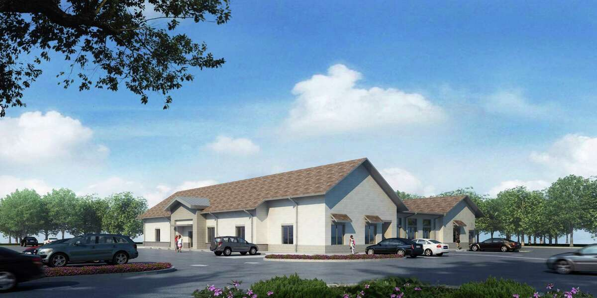 An artist's rendering shows the planned building to house Christian Helping Hands and Seva Clinic at 4305 Magnolia Parkway, Pearland.