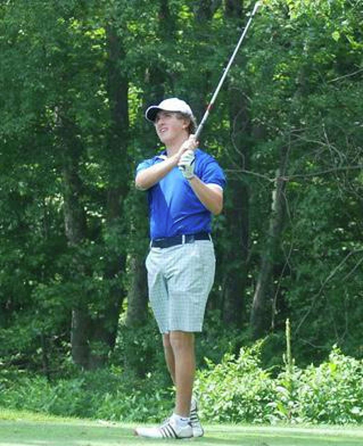 Newtown's Trevor Hislop was faced with the tough decision of selecting between football and golf this fall. The senior chose golf.