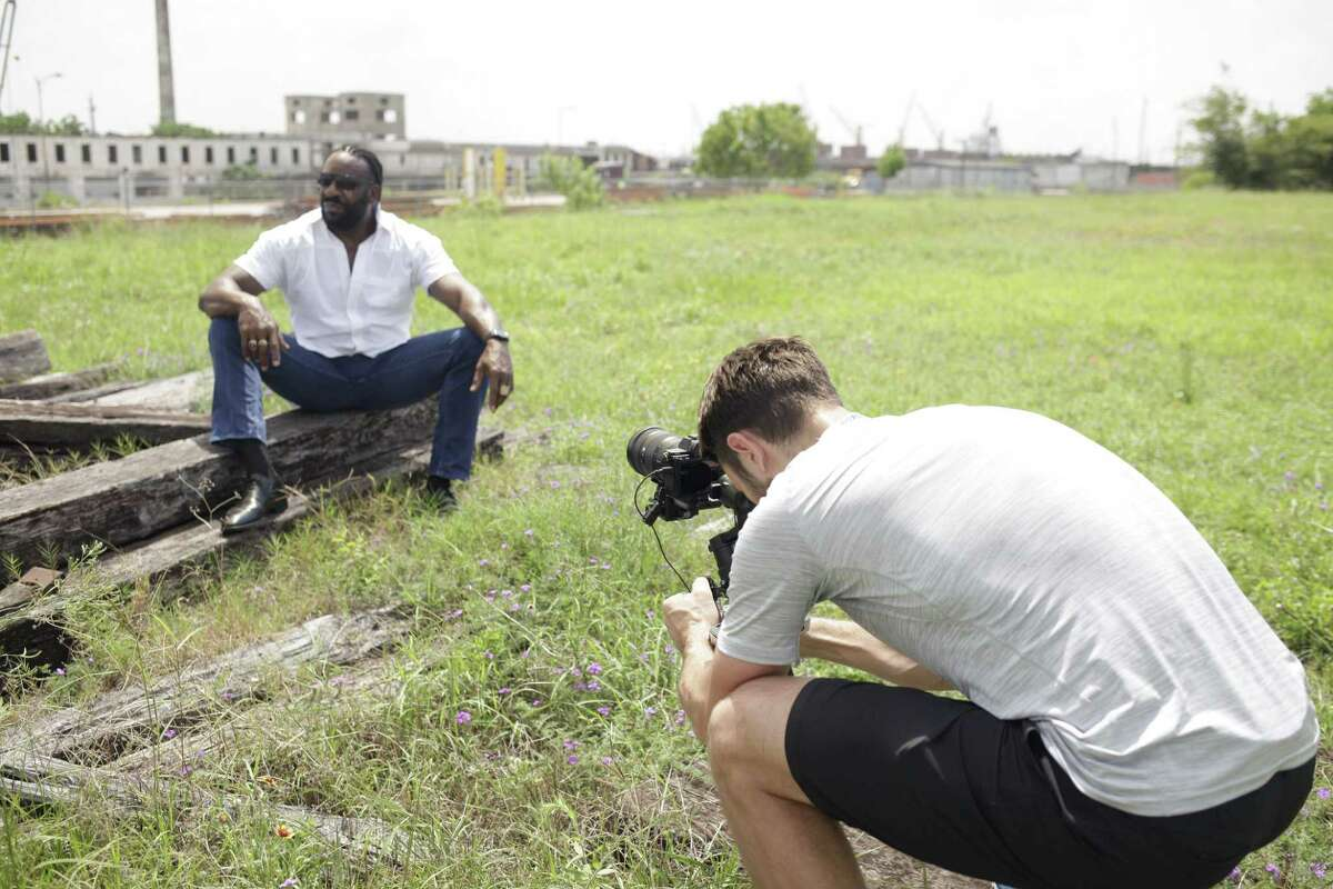 """A photographer frames a scene for the documenary """"Biography: Booker T"""" which debuted on A&E Network chronicling the WWE star."""