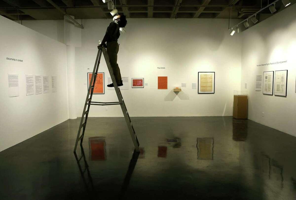 """""""Harald Szeemann: Documenta 5,"""" an exhibit at the Southwest School of Art."""