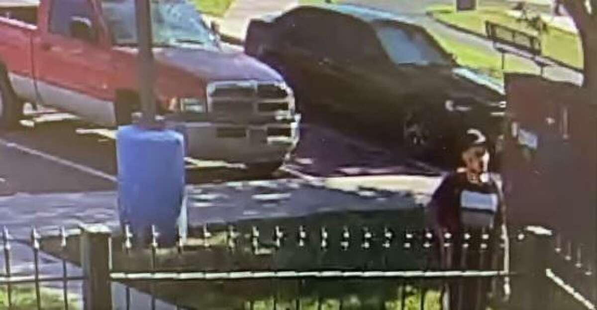 The Laredo Police Department Auto Task Force is seeking this man shown in a video breaking a car window.