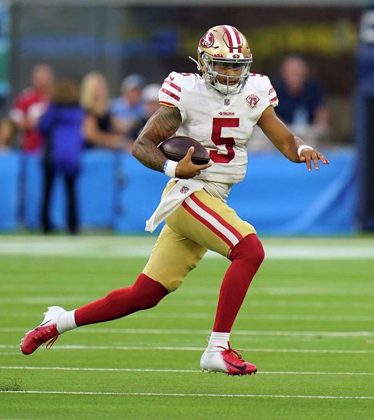 Speedy 49ers backup quarterback Trey Lance has just one run in 63 preseason snaps.