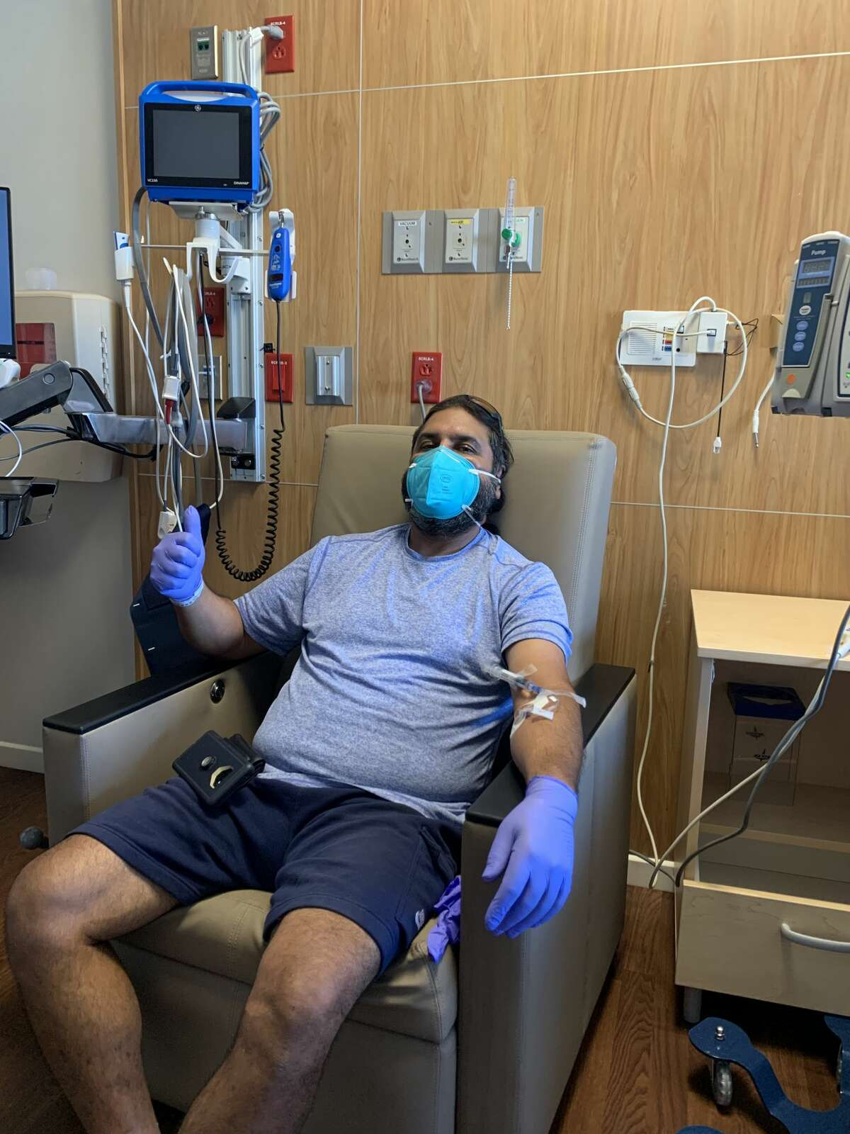 A monoclonal antibody therapy session taking place recently. Midland Health's Dr. Larry Wilson said a relative relatively small number of people have ended up hospitalized after going through that therapy compared to people that don't experience it.