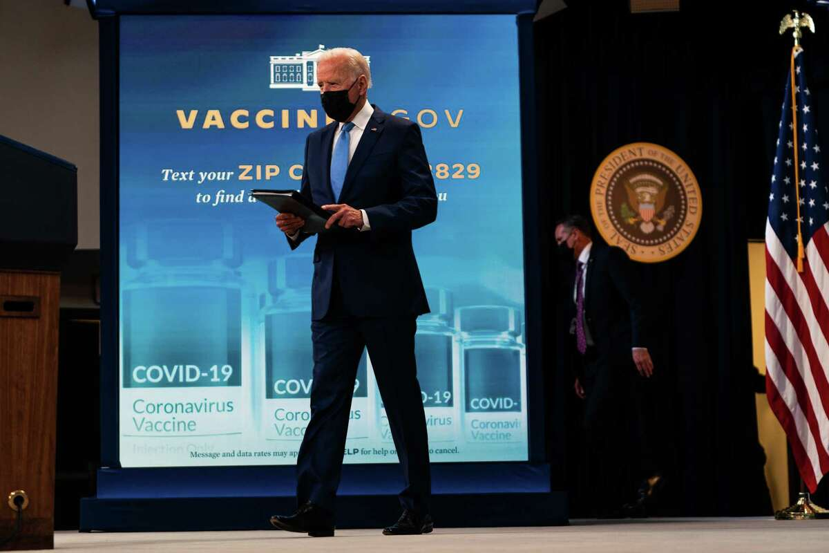 """President Biden touted the FDA's full approval of the Pfizer vaccine at the White House. """"The moment you've been waiting for is here,"""" he said. """"It's time for you to go get your vaccination and get it today."""""""