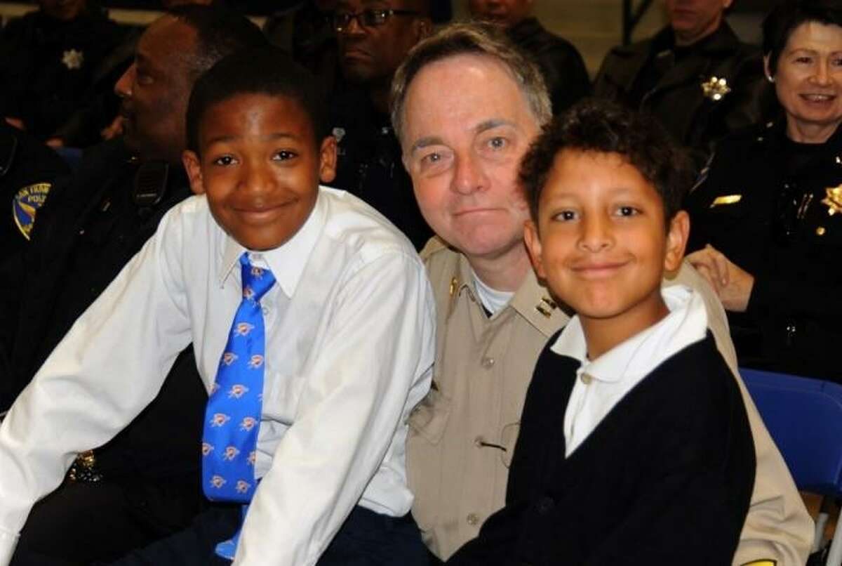 Kevin Fisher-Paulson with his sons.