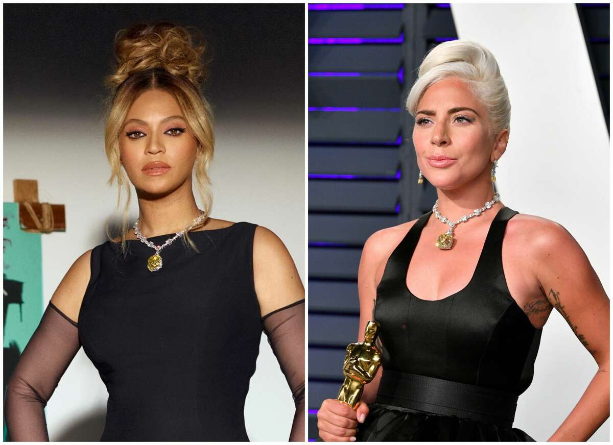 """Tiffany Beyonce: Beyoncé is the first Black woman to ever wear the iconic 128.54-carat yellow Tiffany diamond. Ithas been worn only by three others: Socialite Mary Whitehouse in 1959, AudreyHepburn in 1961 for publicity """"Breakfast at Tiffany's"""" and Lady Gaga in 2019 at the Oscars."""