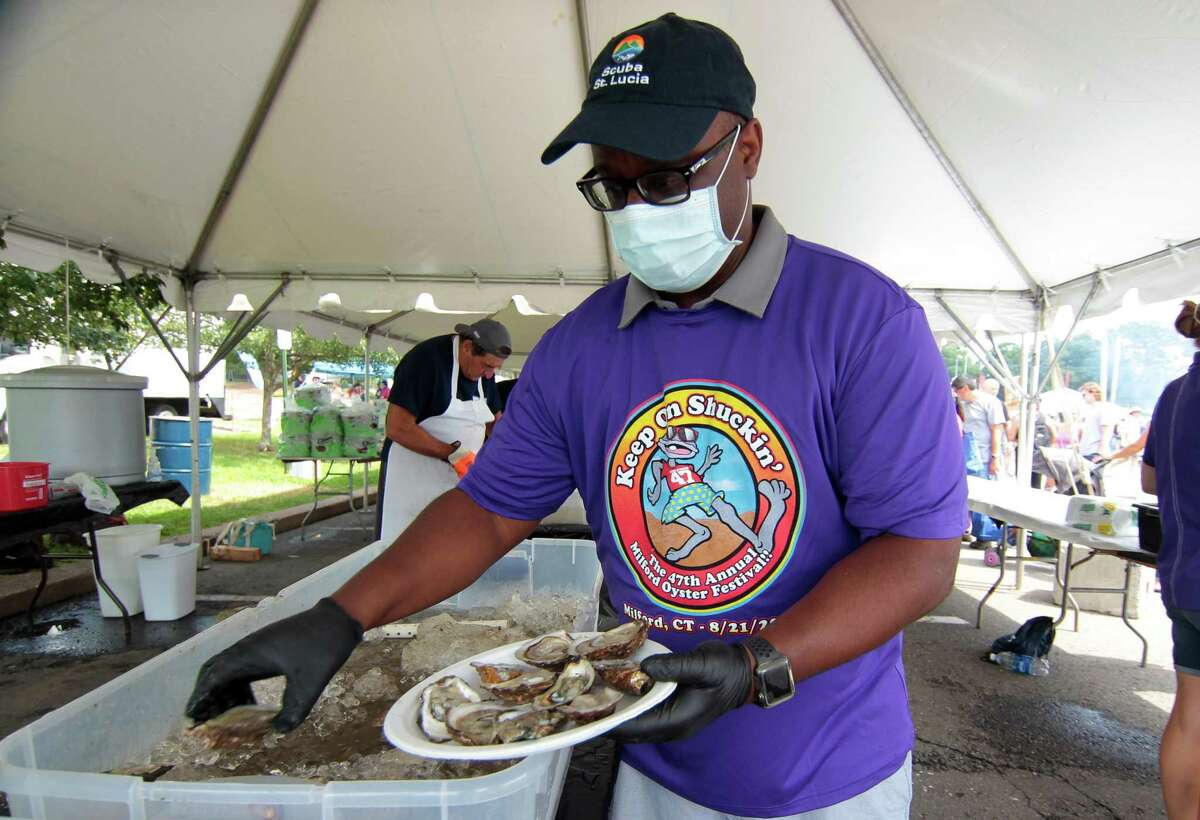 The 47th Annual Milford Oyster Festival in downtown Milford, Conn., on Saturday August 21, 2021.