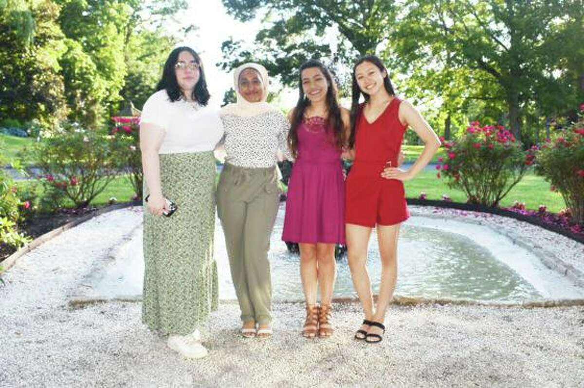 Wesleyan University Upward Bound students gathered for a senior dinner celebration on June 15.