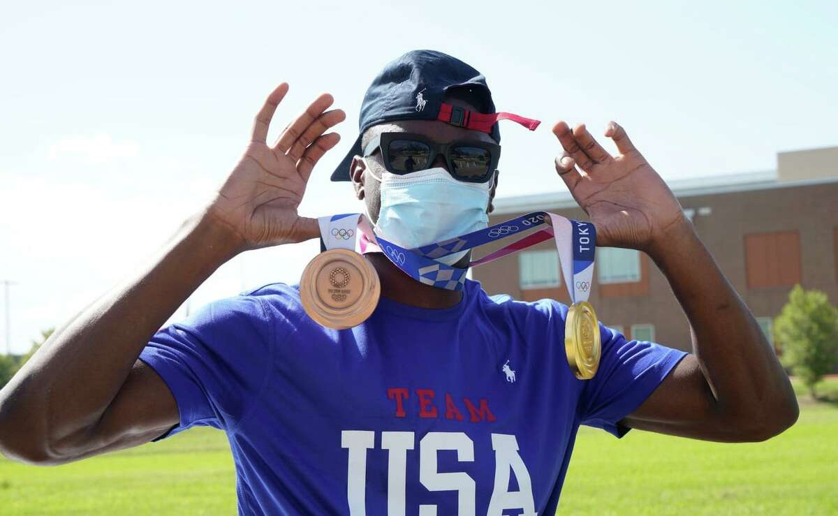 Missouri City celebrated its hometown Olympic medalist Bryce Deadmon on Saturday, Aug. 21, at Community Center Plaza.