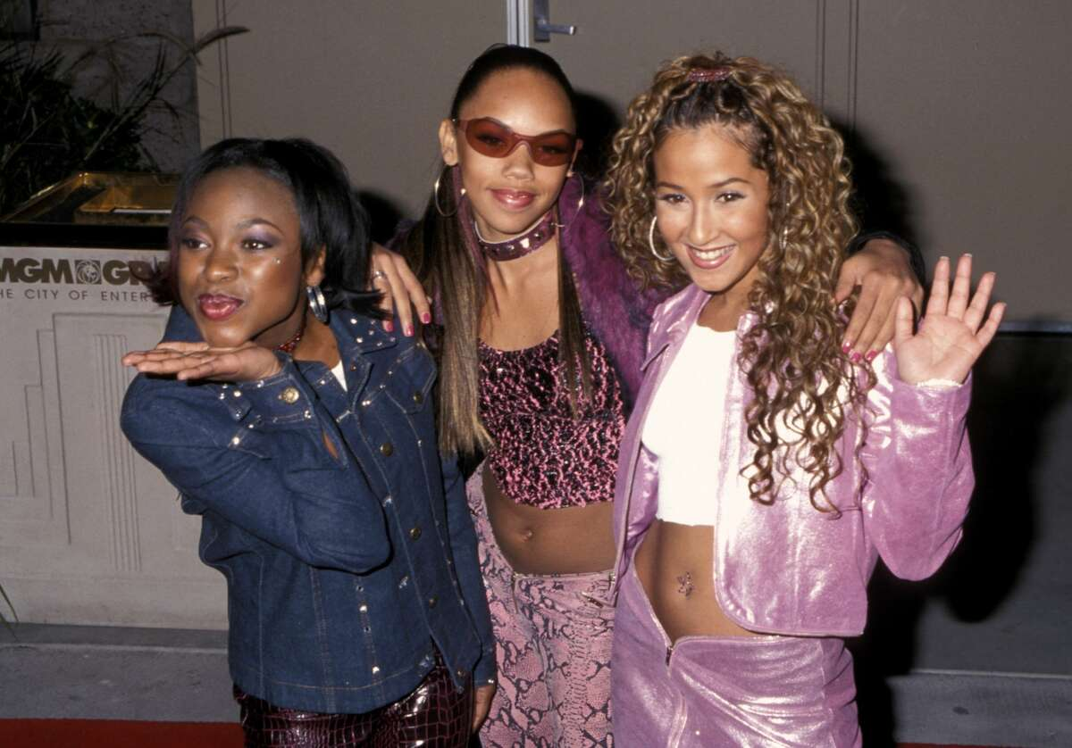 Naturi Naughton, Kiely Williams and Adrienne Bailon of '3LW' (Photo by Ron Galella/Ron Galella Collection via Getty Images)