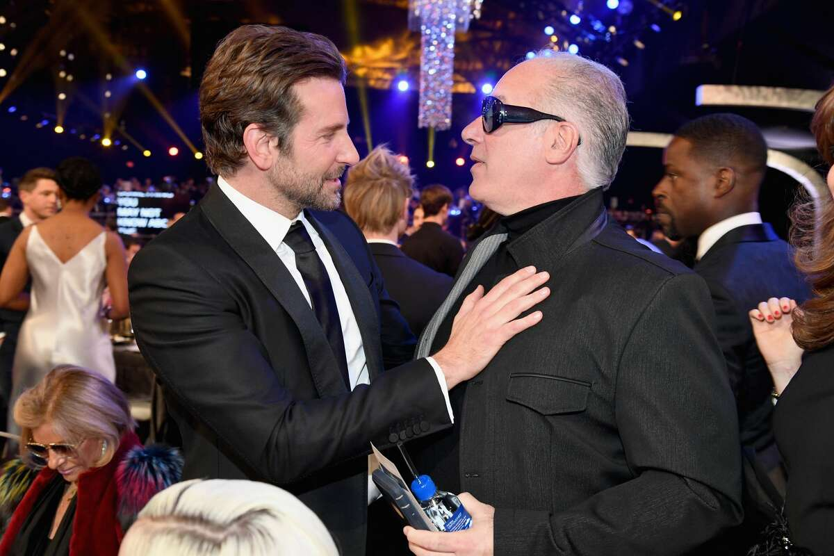 LOS ANGELES, CA - JANUARY 27: Bradley Cooper (L) and Andrew Dice Clay attend the 25th Annual Screen ActorsGuild Awards at The Shrine Auditorium on January 27, 2019 in Los Angeles, California. 480568 (Photo by Kevin Mazur/Getty Images for Turner)