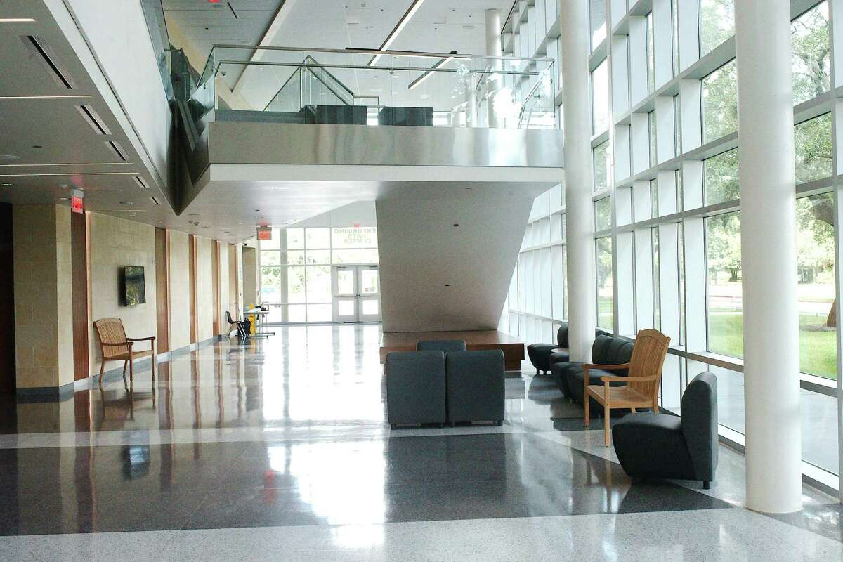 The performing arts center, which had its first show in January 2020 but saw little use for the rest of the year because of the pandemic, offers a more accessible lobby with a seating area and monitor.