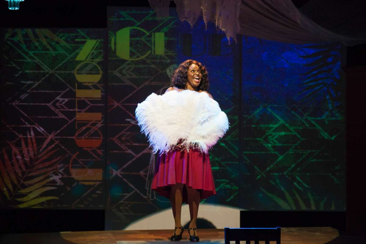 """Jannie Jones as the title character in """"Ethel Waters: His Eye Is on the Sparrow,"""" running through Sept. 26 at Capital Repertory Theatre's new home in Albany."""