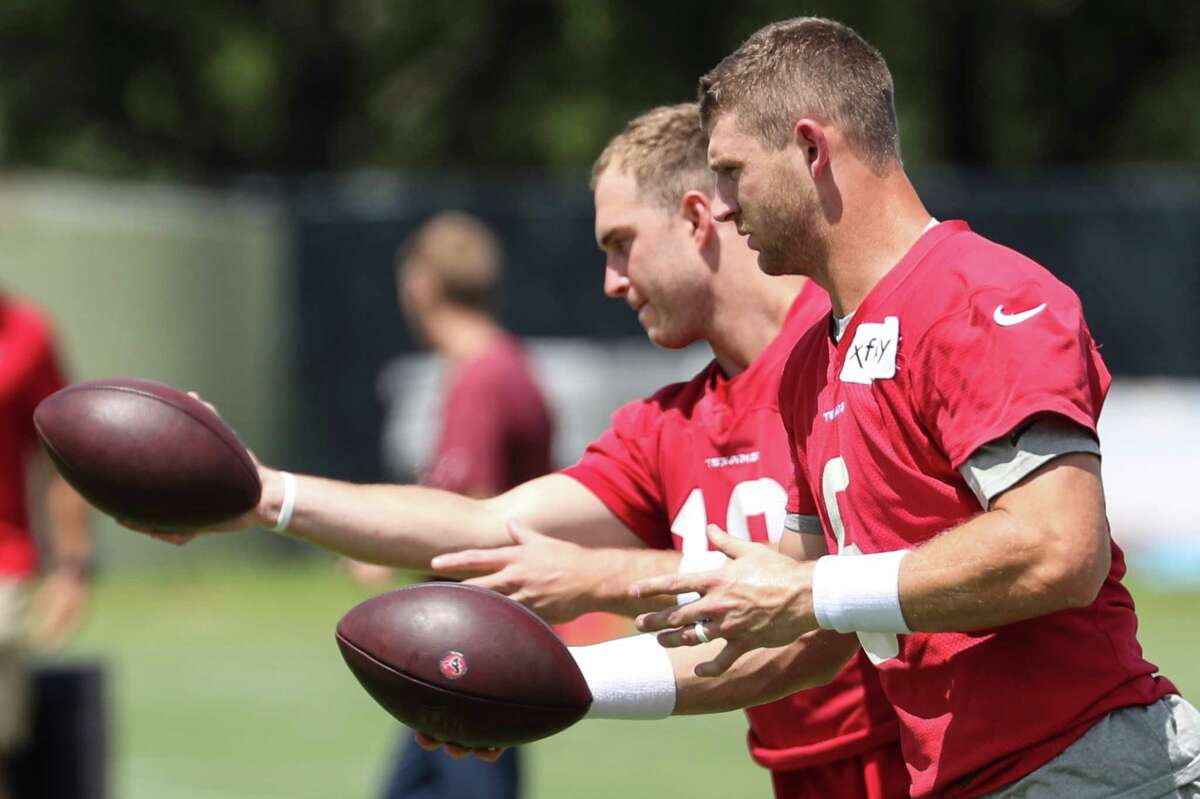 Jeff Driskel completed 2-of-8 passes for 16 yards in two preseason games for the Texans.