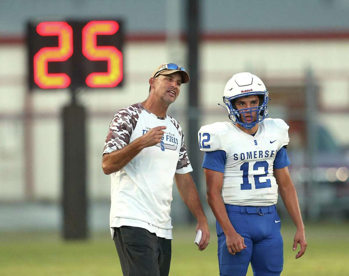 Former Philadelphia Eagles quarterback Koy Detmer left a job he loved at alma mater Mission to coach his son Koal at Somerset. He takes over for legendary father Sonny, who died last year at 76.