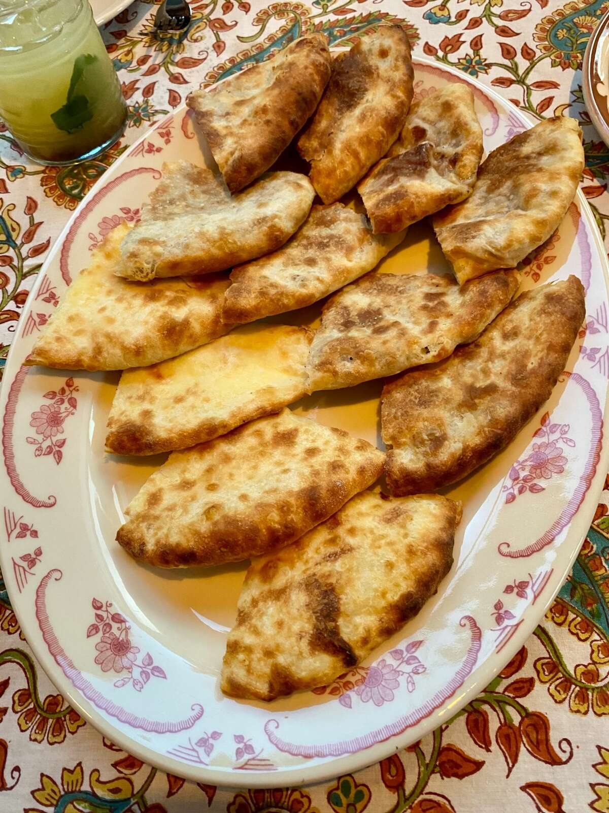 Assorted khachapuri, a stuffed bread, at Chama Mama. Three regional versions are offered at the pop-up from a New York City restaurant of the same name now open at Mass MoCA. (In Georgia there are 47).