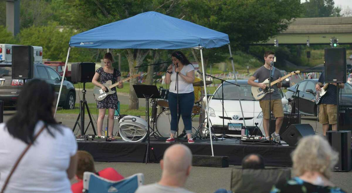 The Danbury Fair mall SummerStage Fireworks Show and Block Party. The event began at 6 p.m. with live bands, beer and food trucks. After Hours, a local band from Western Connecticut State University, will perform from 6 to 8 p.m. and One Stop Pony Band will perform until 10 p.m. Fireworks go off at dusk. Wednesday, July 3, 2019, in Danbury, Conn.