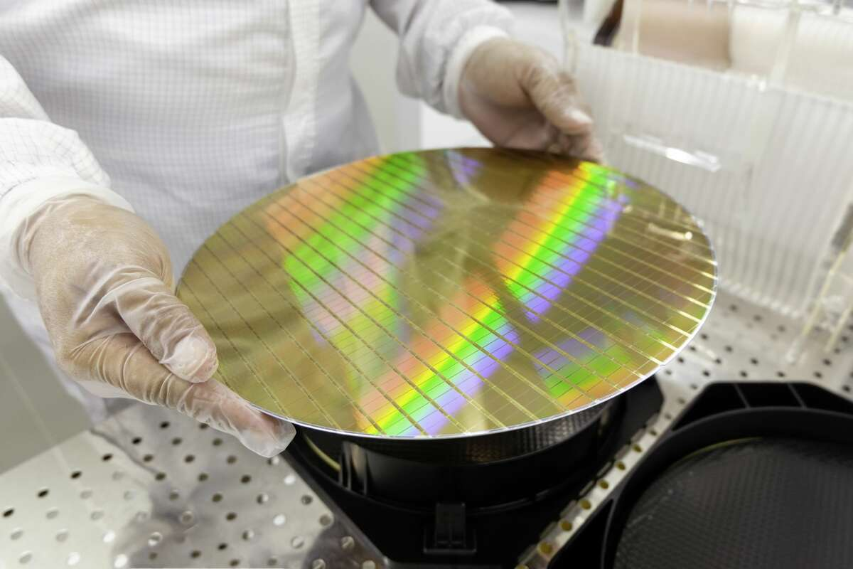Pictured is a semiconductor wafer, which is a thin slice of semiconductor substance, like crystalline silicon, used in electronics for the making of integrated circuits. In the electronics jargon, a thin slice of semiconductor material is called as a wafer, according to WaferPro's website.