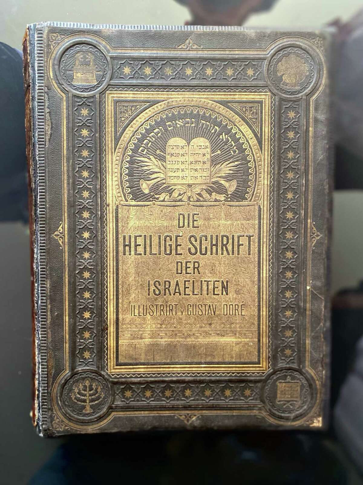 The Leiter family Bible from 1874 that was hidden in an attic in Germany for decades.
