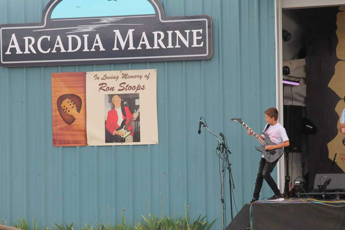 The Minnehaha Brewhaha music festival raises money for the Ron Stoops Memorial Chair at Interlochen Center for the Arts, it also aims to showcase young talent, such as Christian Goss, of Traverse City, pictured at the event in 2019. This year's event is slated to take place on Sept. 3 and 4 at the Arcadia Marine. (File photo)