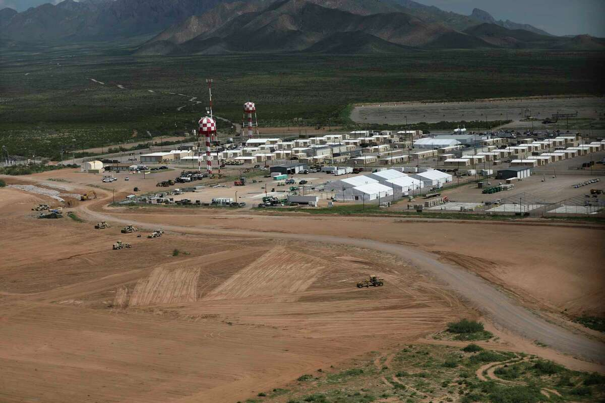 This Aug. 22, 2021, image provided by the U.S. Army, shows construction at the Dona Ana Housing Area near Fort Bliss, Texas, where evacuees from Afghanistan will be housed.