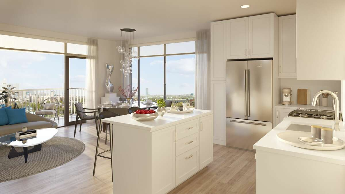 A two-bedroom unit is shown at the Sterling, a 590-unit apartment development anchoring phase two of Regent Square. GID Development Group has partnered with Windsor Communities to manage the property.