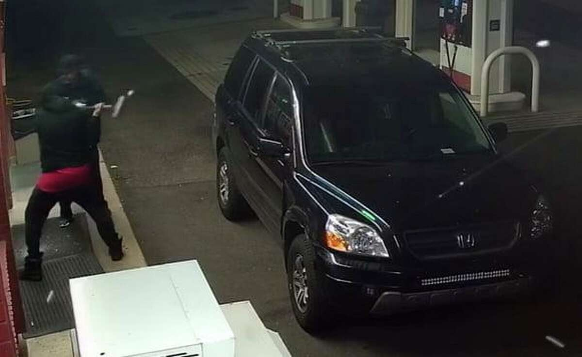 The Ansonia Police Department is looking for two suspects that allegedly burglarized a Fuel First at 575 Main Street at around 3 a.m. Aug. 16.